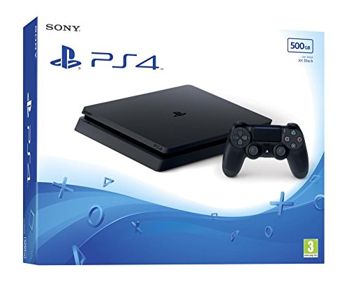 Konsole Sony Playstation 4 Slim (PS4) 500GB D-Chasis ink. Controller [bk]
