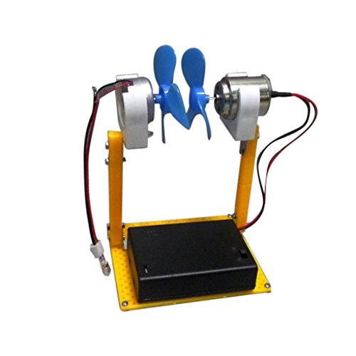 Baoblaze Kit Fai Da Te Set Piccolo Motore Sc Micro Generatore Eolico Modello Insegnamento