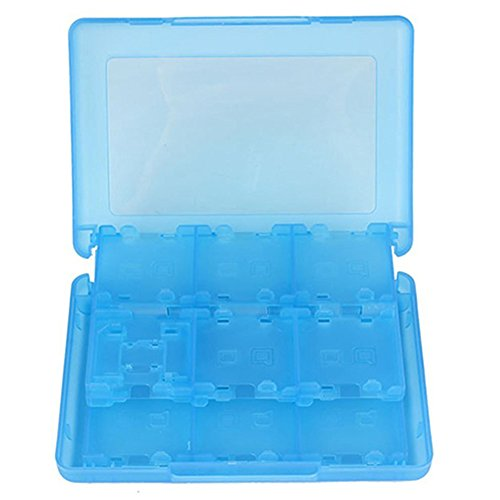 hou zhi liang Game Card Case, Cartridge Box mit 16 in1 Blau Transparent Halterung für Nintendo Schalter Spiele 1 (Video-spiel-box-container)