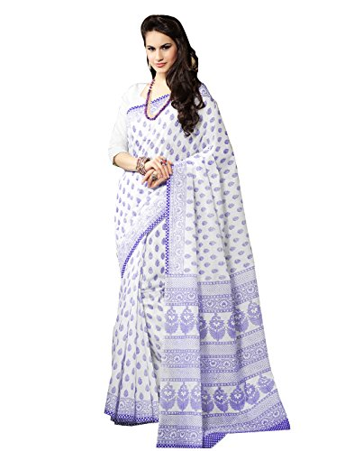 Roopkala Silks & Sarees Cotton Saree (Bp-106 _White)