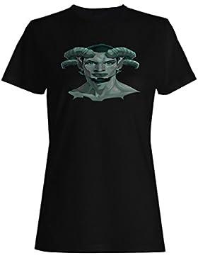 Novedad del diablo del demonio del faun del retrato divertida camiseta de las mujeres a747f