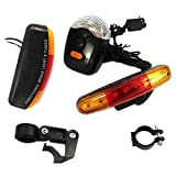#6: LUKZER 7 LED Super Bright Bike Bicycle Signal Light/Cycling Stop Brake Light/Turn Signal Night Lamp Perfect for Cycling