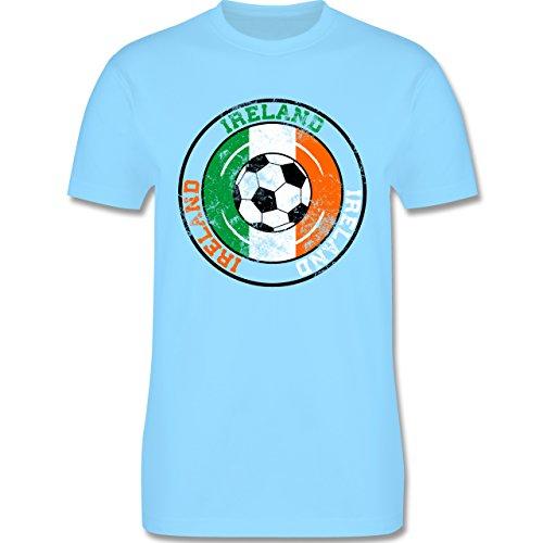 EM 2016 - Frankreich - Ireland Kreis & Fußball Vintage - Herren Premium T-Shirt Hellblau