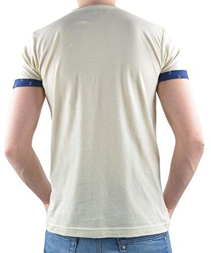 T-Shirt TOM TAILOR DENIM Anchorprint Details Beige
