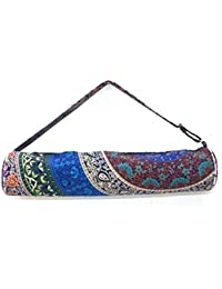 Generic SSHE Handicraft Women's Washable Yoga Bag Handmade (Multi-Color)
