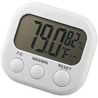 Trixes - Thermomètre digital LCD, fonction hygromètre, mesure l'humidité