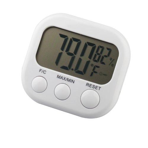 TRIXES - Digitales LCD Thermometer Temperatur Wetter Hygrometer Luftfeuchtigkeit Feuchtigkeit