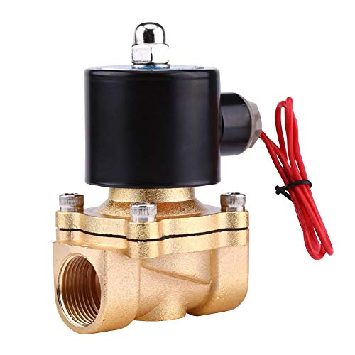 Wasser Ersatz (AC 220V NC Magnetventil,3/4'' BSPP Zinklegierung Normalerweise Geschlossen Ersatz Ventil für Wasser Air Gas Öl)