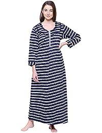 37e4bb5f8 Secret Wish Women s Printed Woolen Nighty Woolen Nighty Nightwear Multicolor  Nighty NT-E124