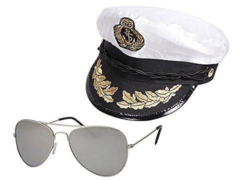 Doc Idées De Costumes - Accéssoire de Déguisement capitaine marin pour adulte