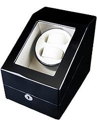FIRWAY (TM) Automático Caja para Relojes Watch Winder 2 + 3 Watch Display Marco de la Decoración de Lujo, 4 modos de temporizador Motor Silencioso Premium