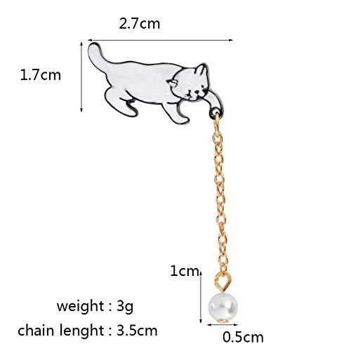 Benutzerdefinierte Tier Kostüm - JTXZD Brosche 9 Arten Hund Emaille Pins Kette Kaninchen Planet Ei Flash Mountain Abzeichen Broschen Jeanshemd Revers Pin Benutzerdefinierte Tier