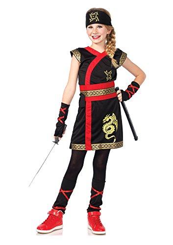 Leg Avenue C48149 - Ninja Krieger Kostüm, Größe Large (EUR 146-158) (Kämpfer Mädchen Kostüm)