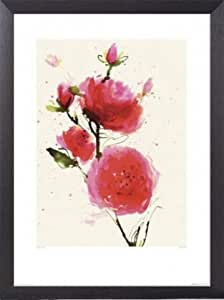 Flowers Poster Art Print and Frame (Aluminium) - Wild Ruby, Summer Thornton (32 x 24 inches)