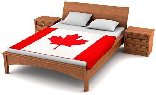 Fuzzy flagstm Fleece Decke Kanadische Flagge-80-inches X 50-inches Übergroße Flagge von Kanada Travel Überwurf Cover L 'unifolié Bobby Fleece