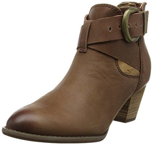 VIONIC Rory, Damen Cowboystiefel, Braun (Dunkelbraun), 38 EU (5 UK) (Boot Cowgirl Schuh Western)