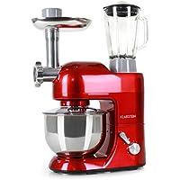 Klarstein Lucia Rossa • Robot de cocina universal • Batidora • Amasadora • Picadora • Licuadora