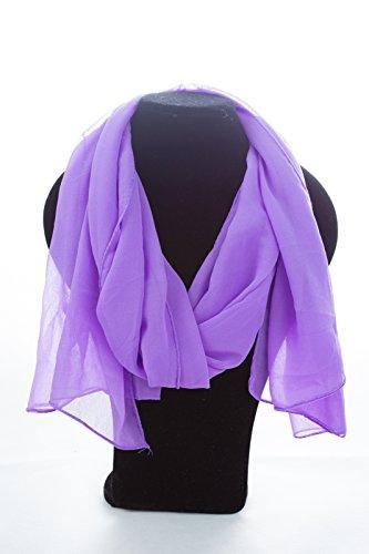 Frühlingsschal Sommerschal Schal Halstuch Unifarben (einfarbig) für Frühling und Sommer 100% Viskose (lila)