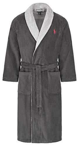 Preisvergleich Produktbild Polo Ralph Lauren Frottee Bademantel Hausmantel Saunamantel L / XL Charcoal (002)