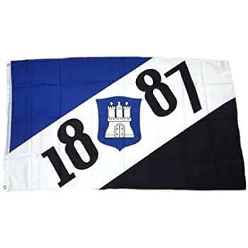 FAHNE FLAGGE HISSFAHNE 150 x 200 HAMBURGER SV HSV