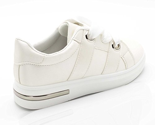 Oui Fashion Damen Sneaker Weiß