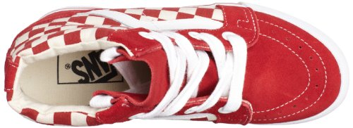 Vans Sk8-Hi Wedge, Baskets Basses Femme Rouge - rouge