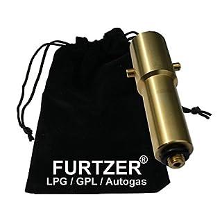 Furtzer LPG GPL Autogas Tankadapter M10 BAJONETT lang Adapter mit Stoffbeutel by