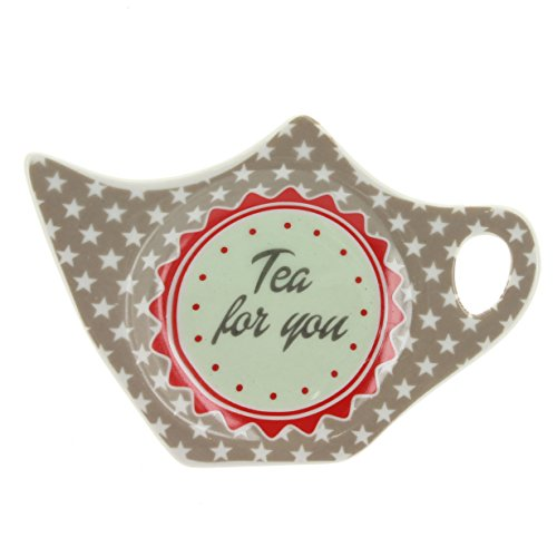 Teebeutelablage TEA FOR YOU taupe aus Keramik
