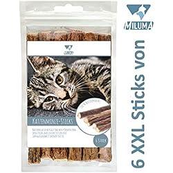 Miluma 6 x Katzenminze Sticks für Katzen | natürliche Zahnpflege| 6 extra Dicke und hochwertige Kausticks | Katzenspielzeug gegen Mundgeruch & Zahnstein | 100% Natur - Matatabi
