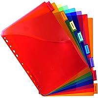 Exacompta 4854E Paquet de 8 Intercalaires A4+ en Polypro Couleurs Assorties