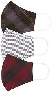 DIVERSE Men's Cotton Cloth Face Mask (Pack of 3) (DCURM01FP03L34-54_Multicolor_Free S