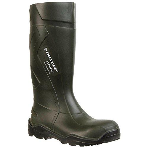 Dunlop C762933 S5 Purofort + Stivali Wellington Unisex Per Adulti A Gambo Lungo Verde Scuro / Nero