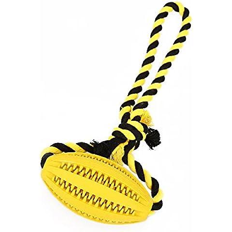 cane giocattoli pulizia dei denti, anche la corda di cotone duro da masticare molari durevole non tossico giocattoli da compagnia