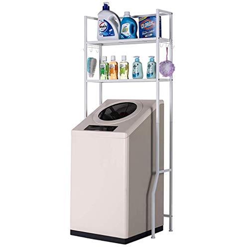 XYJZW Regal 2-lagiges oberes Lagerregal for Waschmaschinen - Universalregal aus Metall - Universallagerregal for Waschmaschinen