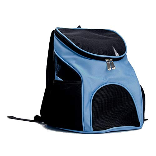 JKRTR Bequem und sicher Hunderucksack Pet Carrier Bag mit Mesh Cat Backpack Bag(Blau,17x13x11inches)
