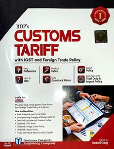BDP's CUSTOMS TARIFF with IGST and Foreign Trade Policy 2020 (in 2 Vols.)