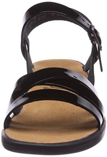 Ganter Damen Sonnica-e Offene Sandalen mit Keilabsatz Schwarz (schwarz 0100)