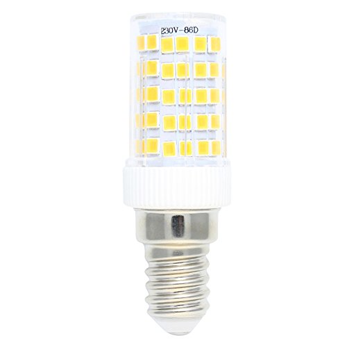 E14 Fassung 10W Dimmbar LED Lampe,3000K Warmweiß 800LM,86 SMD 2835,AC 220V-240V,360° Abstrahlwinkel,5er-Pack