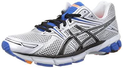 Asics Men's GT-1000 M Running Shoes, White/Black/Blue, 8