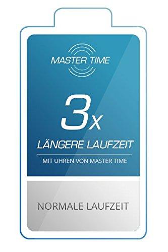 Master Time Funk Quarz Herren Uhr Analog-Digital mit Leder Armband MTGA-10576-24L - 2