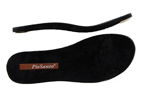Scarpe donna comfort pelle Piesanto 6857 sandali soletta estraibile comfort larghezza speciale Marino