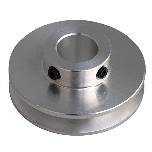 41x16x12 MM Silber Aluminiumlegierung Einzigen Nut 12 MM Feste Laufrolle für Motorwelle 3-5 MM PU Rundriemen