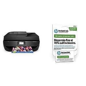 HP OfficeJet 4657 Stampante Multifunzione Wireless, Instant Ink Ready con 3 Mesi di Prova Gratuiti + Instant Ink Scheda di Registrazione 1° Mese, Piano da 100 Pagine