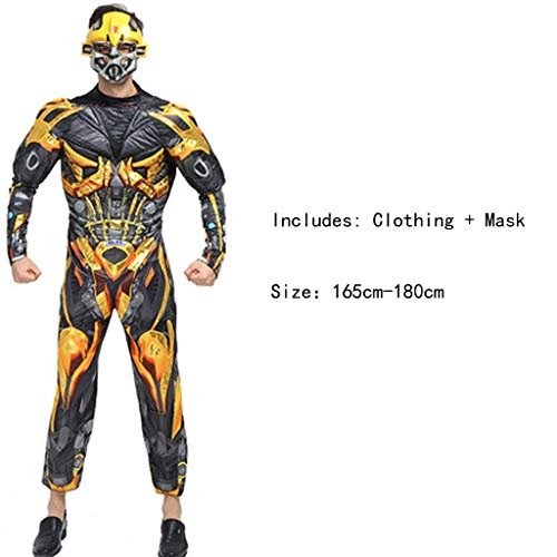 HYYSH Halloween Film Cartoon Anime Dress Up Charakter Erwachsene Kostüm Printed Hero Cosplay Kostüm (Transformers)