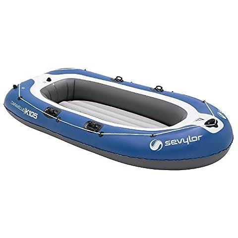 Sevylor Schlauchboot Caravelle K105, aufblasbares Boot, 3 Personen, mit Vorrichtung für Elektromotor, 294 x 146 cm