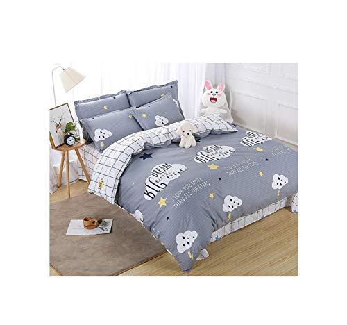Steppdecken-Deckblätter doppelseitige Bettwäsche Set Baumwolle waschbar einfache niedliche Kinder Kinder Erwachsene Dream Cloud, 5
