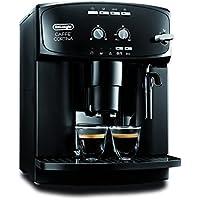 DeLonghi Caffe Cortina ESAM 2900 Kaffeevollautomat (1450 W, 1,8 l, Direktwahltasten und Drehregler, Milchaufschäumdüse, Kegelmahlwerk 13 Stufen, Herausnehmbare Brühgruppe, 2-Tassen-Funktion) schwarz