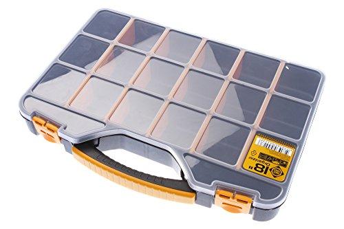 FORTE Tools Organizer, Aufbewahrungsbox, Werkzeugbox mit 18 Fächern, 18 Zoll