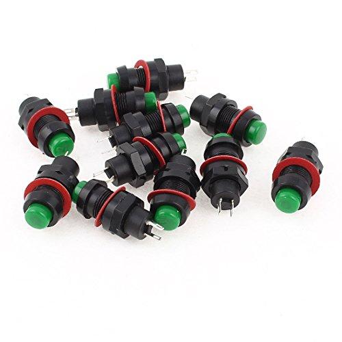 Preisvergleich Produktbild sourcingmap® 10 Stücke DS-213 Momentan SPST Druckschalter Rot Schwarz AC 125V 2A de