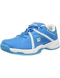 Wilson WRS322310E015, Zapatillas de Tenis Unisex Niños, Azul (Methyl Blue / White / Hawaiian Ocean), 34 EU